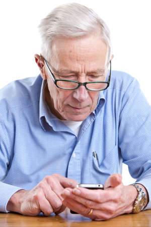 Senior man with mobile in his hand Stock Photo - 11112693