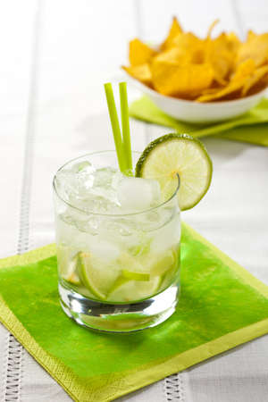 Tradition brazilian cocktail called caipirinha
