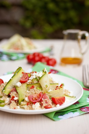 Quinoa and courgette salad Stock Photo - 11112692