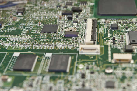 macro printed circuit board for electronic components photo