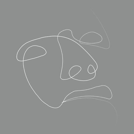 Man of one line. Vector illustration on color background. Zdjęcie Seryjne - 124525674