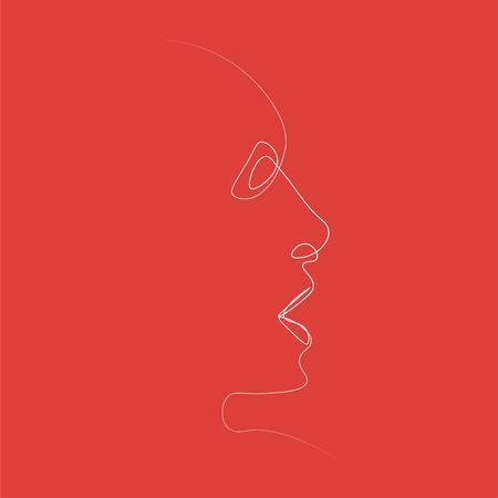 Man of one line. Vector illustration on color background. Zdjęcie Seryjne - 124525716