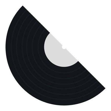 Vinyl record in flat style. Vector illustration on white background.