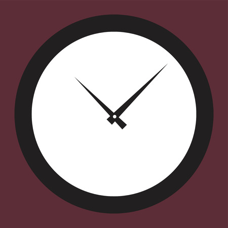 Icon round hours in a flat style. Vector illustration on color background. Banco de Imagens