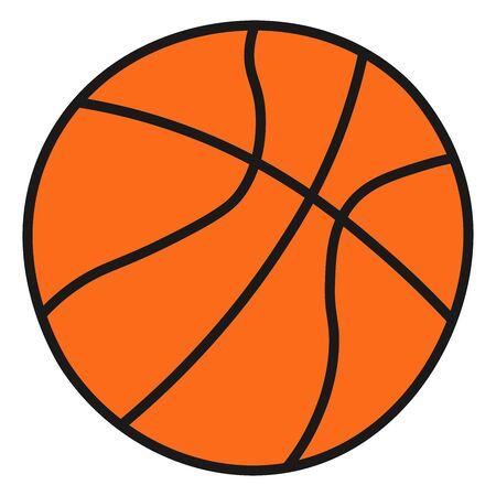 Baloncesto escolar en estilo Doodle. Ilustración de vector. Ilustración de vector