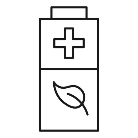Ecological icon. Environmental battery. Isolated on white background. Vector illustration. Vectores