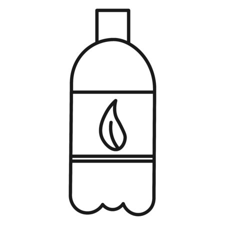 Ecological icon. Eco friendly water bottle. Isolated on white background. Vector illustration. Vectores