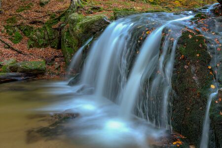 Waterfall in river