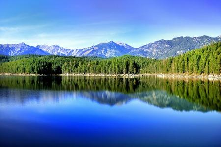 Eibsee, Bavaria Standard-Bild
