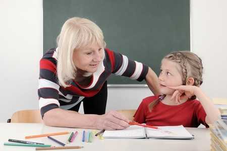 Teacher helps to solve the problem