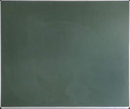 Green Chalk Board with silver frame Stock Photo