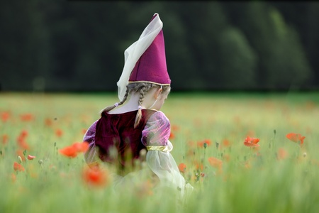 damsels: young girl dressed in fairy princess costume  Stock Photo