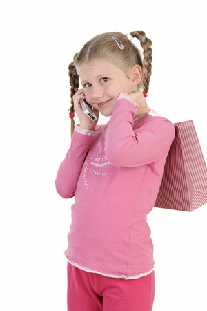 Young Girl with Shopping Bag  photo