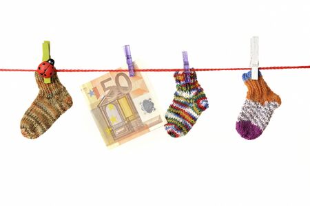 for children toys: Baby goods hanging on the clothesline