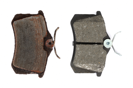 Disc brake pad isolated on white background