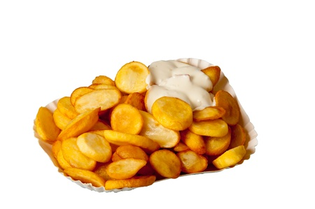 cip: deep-fried potato slices with mayonnaise