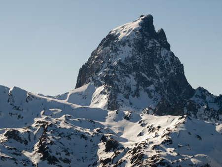 midi: midi dossau mountain in the pyrenees Stock Photo