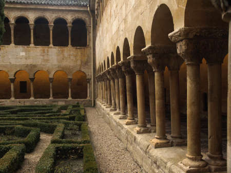 santo domingo de silos abbey in Burgos (spain) Stock Photo