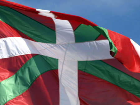 Basque country flag Stock Photo