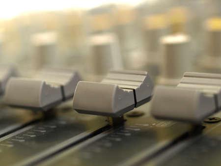 console: sound mixer Stock Photo
