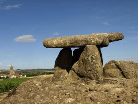 chambered: chabola de la hechicera dolmen in ebro