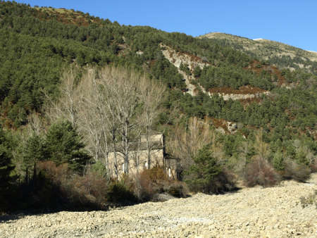 huesca: the hermitage of santa maria de Iguacel in Huesca Stock Photo