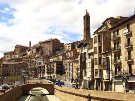 zaragoza: Traditional buildings in the town of Tarazona  Zaragoza  Editorial