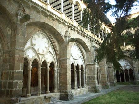 Cloister of the monastery of Veruela photo