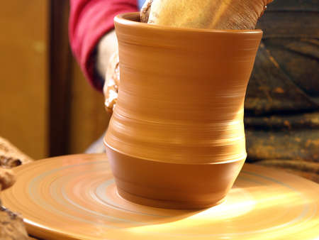 the work of a potter Stock Photo - 13766257