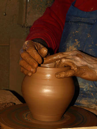 the work of a potter photo