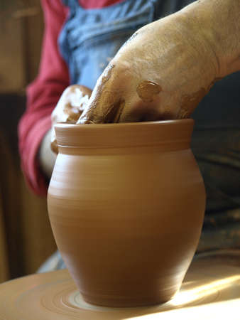 the work of a potter Stock Photo - 13766065