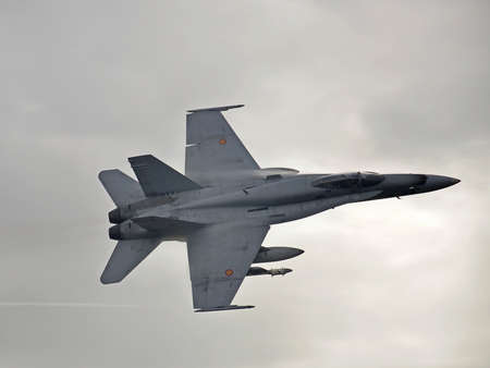 F18 hornet aircraft flying photo