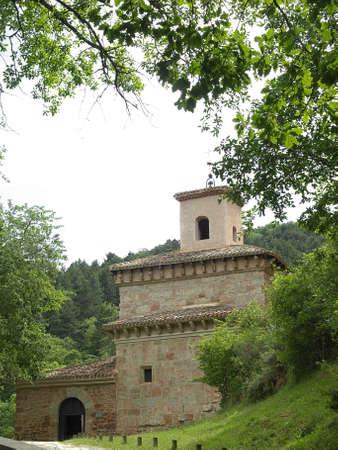 millan: Tne monastery of Suso in La Rioja, the place where the spanish language was born Stock Photo