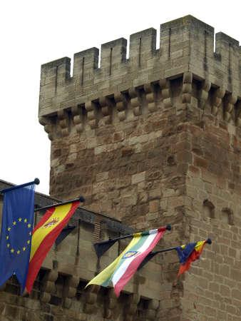 The castle of Aguasmansas in Agoncillo  La Rioja Stock Photo - 14398980