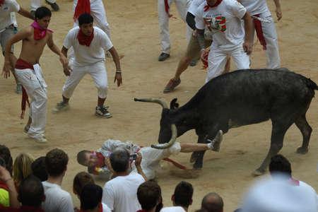 running of the bulls in Pamplona\