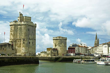 Old port in La Rochelle  France  Stock Photo
