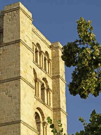 zamora: details of the cathedral of zamora in castilla