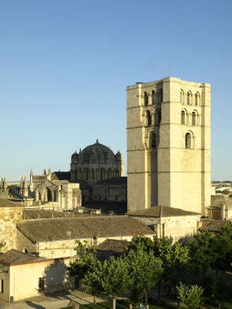 castilla: details of the cathedral of zamora in castilla