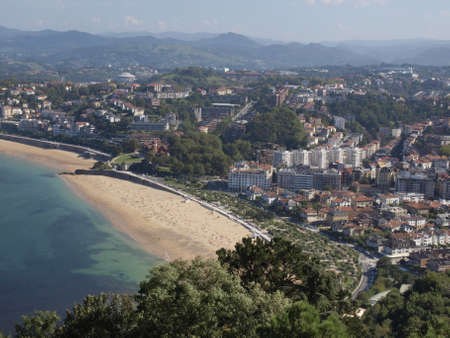 san sebastian: airview of La Concha beach in San Sebastian  Stock Photo