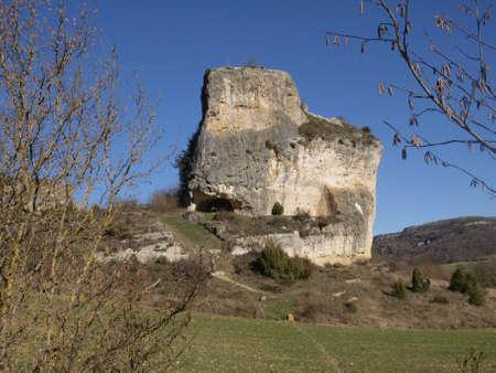 alava: cuevas artificiales en Markinez (Alava) Foto de archivo