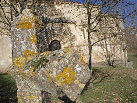 alava: San Juan de Markinez antigua iglesia rom�nica en �lava (Espa�a)