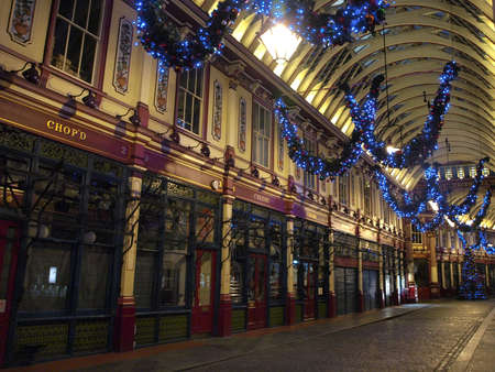 leadenhall market in London - UK Stock Photo - 18079563