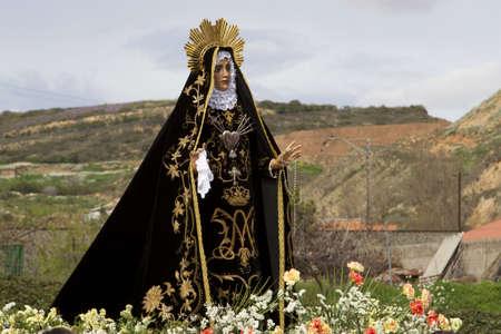 procession: santa Procesi�n de Pascua en Logro�o Foto de archivo