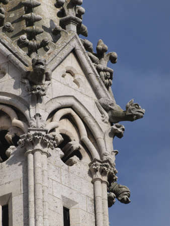 castilla leon: gothic Cathedral, with its stained glass windows in Leon (Castilla)