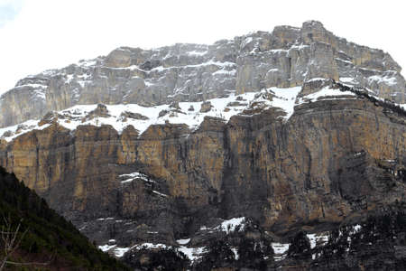 ordesa: Cotatuero Cirque and Fraucata walls  - Ordesa National Park and Monte Perdido - Torla - Ordesa Valley - Province of Huesca - Aragón Pyrenees - Pyrenees - Sobrarbe - Aragon - Spain - Europe