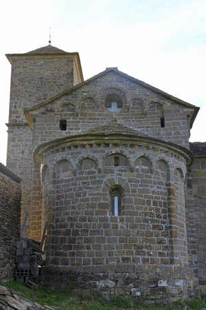 romanesque: the romanesque church of San Fructuoso in Barós (Huesca)