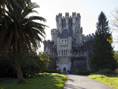 loopholes: Castle of Butron in Gatika, Biscay, Spain Stock Photo