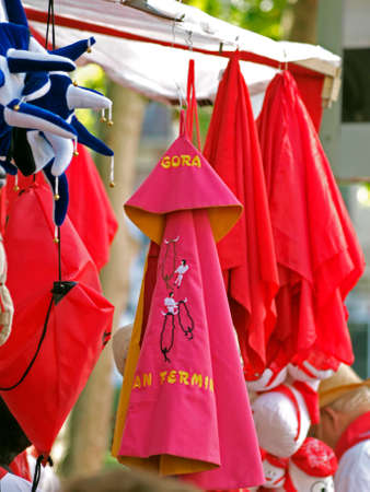 traditional goods: traditional goods in san fermin - Pamlona (navarra) Editorial