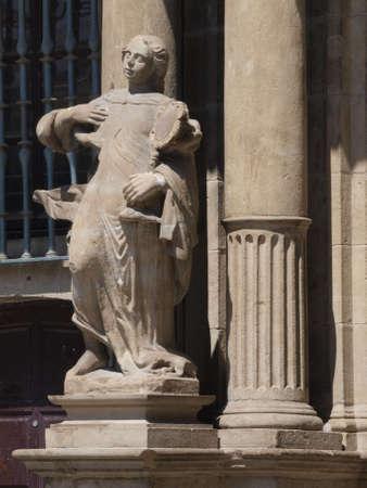 navarre: townhall of Pamplone (Navarre) Stock Photo