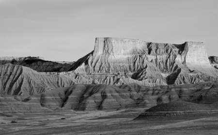 navarre: the desert of Bardenas Reales in Navarre Stock Photo